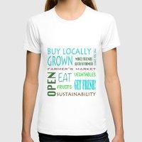 farm T-shirts featuring Farm Fresh by Janice Sullivan