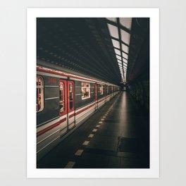 Prag Underground Art Print