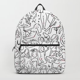 Doodle naked woman Backpack
