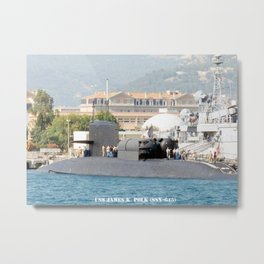 USS JAMES K. POLK (SSBN-645) Metal Print