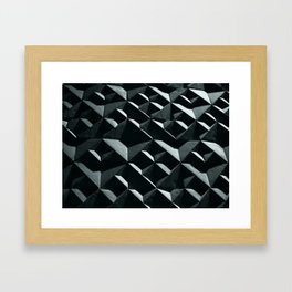 Black Diamonds - Concrete Framed Art Print