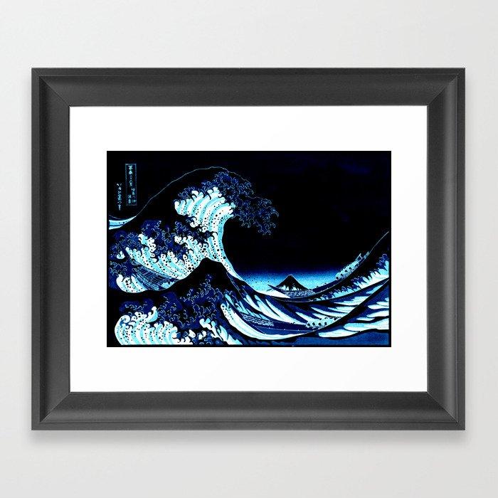 the Great Wave blue Gerahmter Kunstdruck