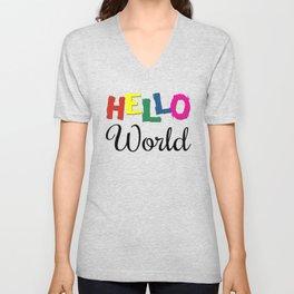 Hello World Unisex V-Neck
