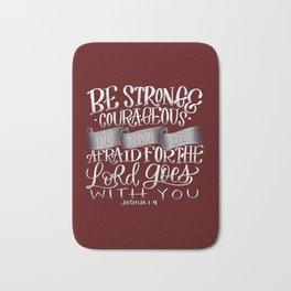Be Strong (Burgundy/Grey) Bath Mat