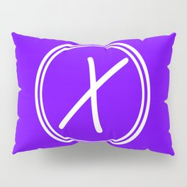Monogram - Letter X on Indigo Violet Background Pillow Sham