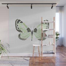Green Grass Spring Butterfly Wall Mural