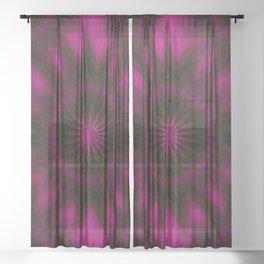 Mystical Magenta Sheer Curtain