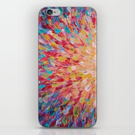 SPLASH - WOW Dash of Cheerful Color, Bold Water Waves Theme, Nature Lovers Modern Abstract Decor iPhone Skin