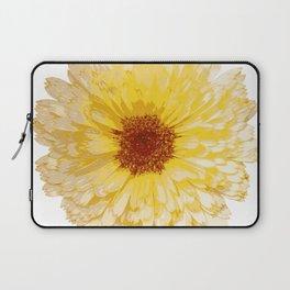 Beautiful Yellow Marigold Vector Isolated Laptop Sleeve