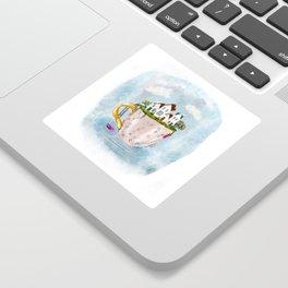 Pink Cup island Sticker