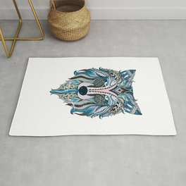 Wolf Colorful Rug