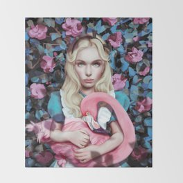 """Alice in Wonderland"" by Giulio Rossi Throw Blanket"