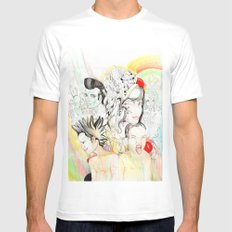 Crazy Family SMALL Mens Fitted Tee White
