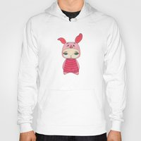 piglet Hoodies featuring A Boy - Piglet (porcinet) by Christophe Chiozzi