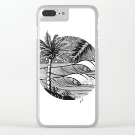 Tropical night session Clear iPhone Case