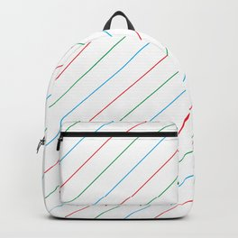 Red and Blue Diagonal Stripe Pattern Backpack