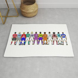 Soccer Backs Rug