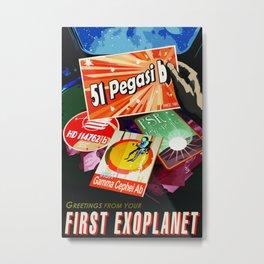 Vintage poster  - 51 Pegasi B Metal Print