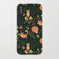 foxes iPhone & iPod Cases featuring Foxes by Julia Badeeva