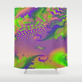 Interconnected Metallic Fractal Shower Curtain