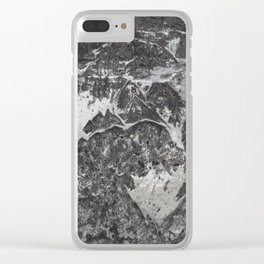 Grunge old vintage wall Clear iPhone Case