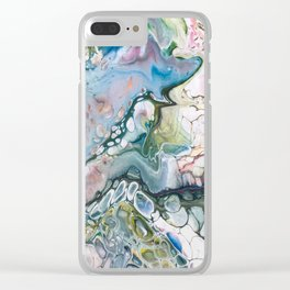 Sea and Land Acrylic Abstract Painting Clear iPhone Case