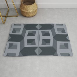 The cubic illusion Rug