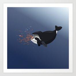 Pinocchio and the Bowhead whale Art Print