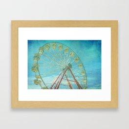 Ferris Wheel I carnival, creamy, carnival print, nursery print, home decor, carnival decor, Framed Art Print
