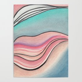Pastel Marble Poster