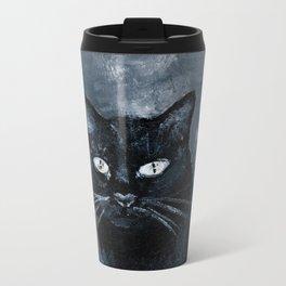 Black Cat Rising Metal Travel Mug