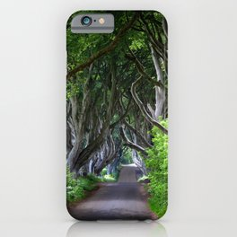 Dark Hedges, Northern Ireland. iPhone Case