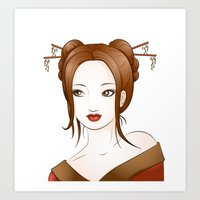 asia Art Prints featuring Asia by Li-Bro