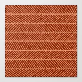 Herringbone Rust and Peach Canvas Print