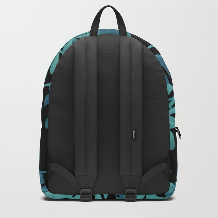 Graphic Monstera leaves. Backpack