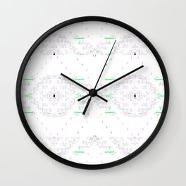 Grey Type with Colorful Filigree Wall Clock