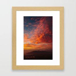 Haleakala's Colorful Sunset Framed Art Print