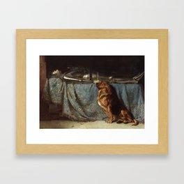 Requiescat by Briton Riviere Framed Art Print
