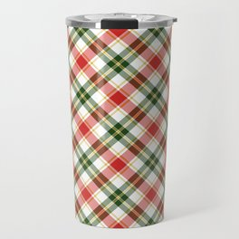 Christmas Plaid in Red and Green Travel Mug
