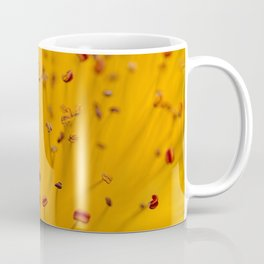 Fields of Red and Gold: Closeup of St. John's Wort Coffee Mug