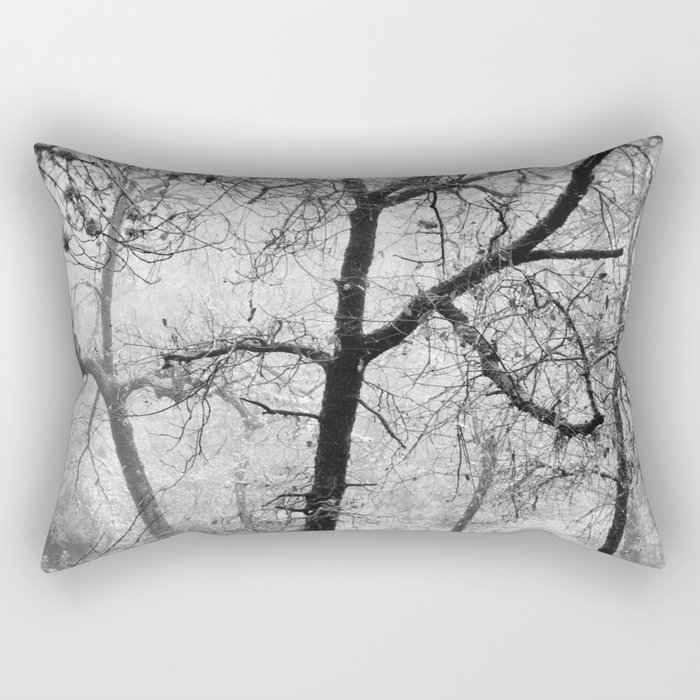 """Into the woods III"". Foggy forest Rectangular Pillow"
