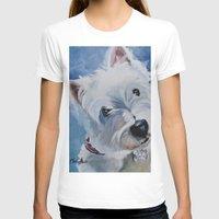 westie T-shirts featuring Westie Named Tavin by Karren Garces Pet Art