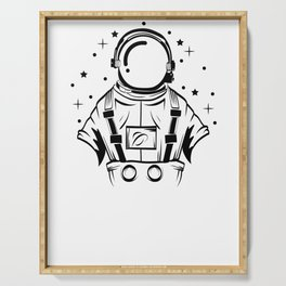 Are You A Fan Of Astronomy? An Astronaut Dreamer? Here's An Antronaut Inside A Bulb T-shirt Ideas Serving Tray