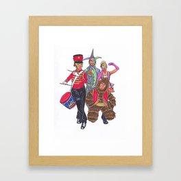 Masquerade Band Framed Art Print