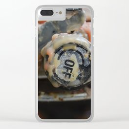 Dripping Wax Clear iPhone Case
