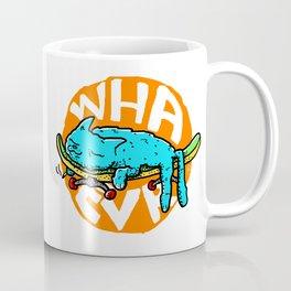WHAEVR ~ Skateboarding Kitty Cat Naps Coffee Mug
