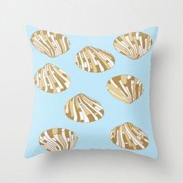 Scallop Shells Throw Pillow