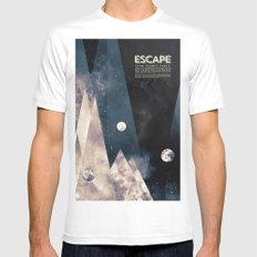 Escape, from planet earth Mens Fitted Tee White MEDIUM