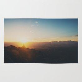 sunrise on Mt Woodson ... Rug