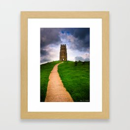 Path To The Top Of Magical Glastonbury Tor Framed Art Print